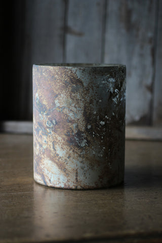 Copper & Rust Marbled Candle Holder