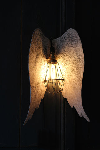 Distressed Metal Angel Wings