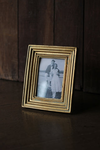 Aged Gold Photo Frame
