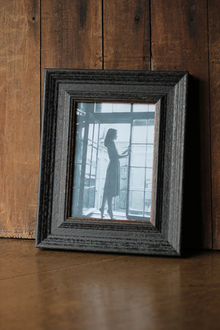 "Wide Distressed Black 5"" x 7"" Frame"
