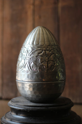 Decorative Tin Embossed Egg