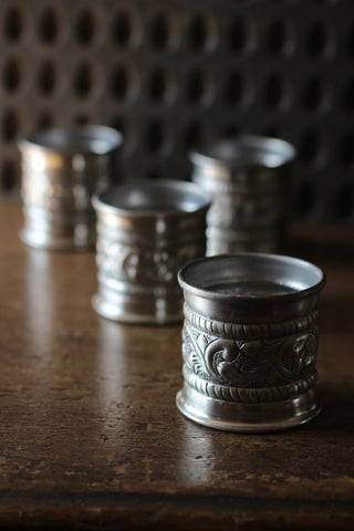 Tin Embossed Cup/T-Light Holder