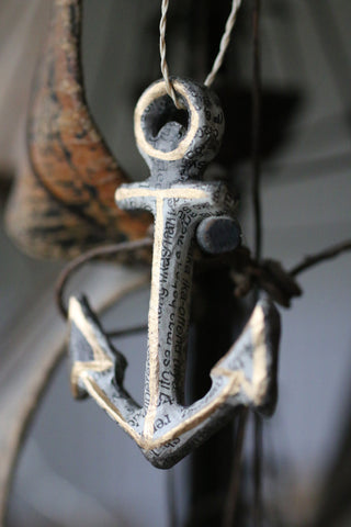Recycled Paper Anchor Decoration