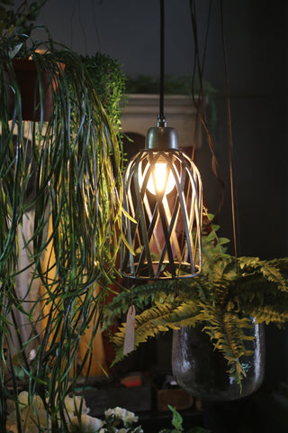 Zinc Cage Pendant Light