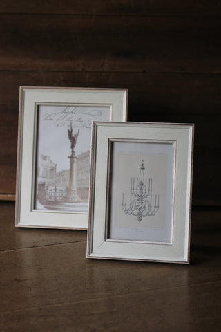 Distressed White Photo Frames