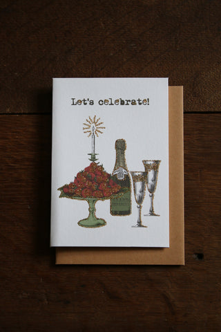 Vanilla Fly Glitter Card - Let's Celebrate