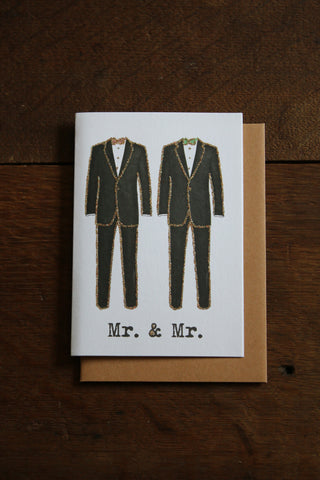 Vanilla Fly Glitter Card - MR & MR