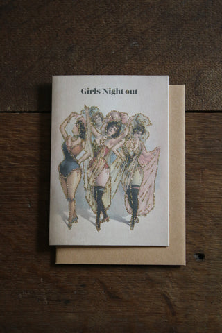Vanilla Fly Glitter Card - Girls Night Out