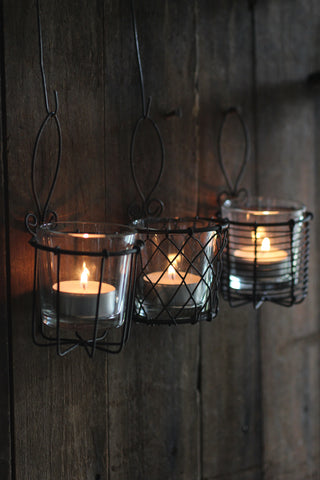 Wire & Glass Votive