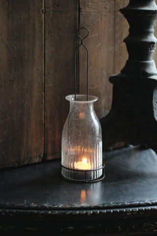 Hanging Bottle T-light lantern