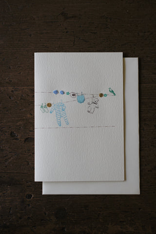 Elena Deshmukh Card, Baby Boy Washing Line