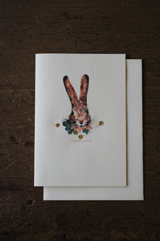 Elena Deshmukh Card, Good Luck Bunny