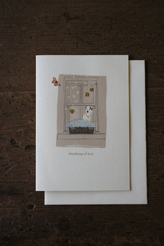 Elena Deshmukh Card, Thinking of You, Dog