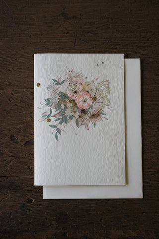 Elena Deshmukh Card, Antique Posy