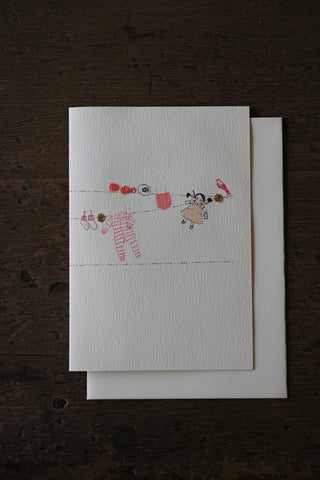 Elena Deshmukh Card, Baby Girl Washing Line