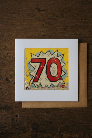 Shakies  -70th Birthday Card