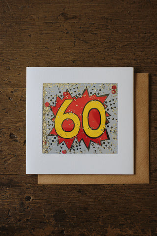 Shakies  -60th Birthday Card