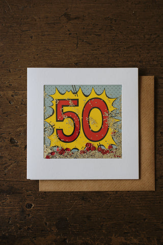 Shakies  -50th Birthday Card