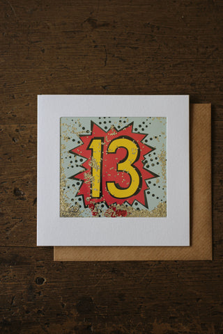 Shakies  - 13th Birthday Card