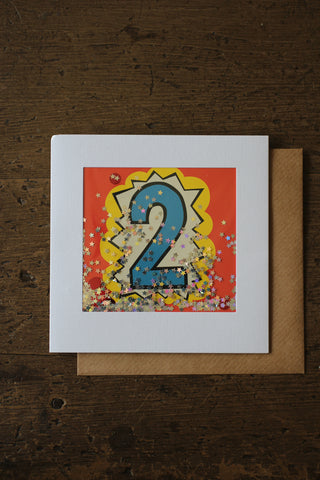 Shakies  - 2nd Birthday Card