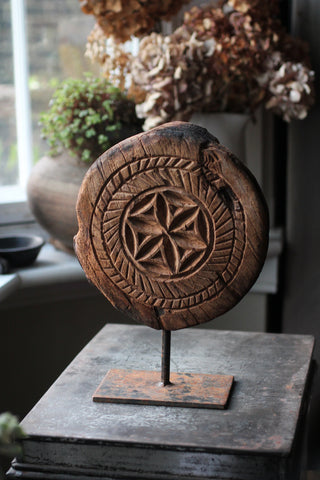 Wooden Carved Board on Stand