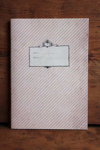 Vintage stripe notebook
