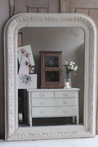 WHITE LOUIS PHILIPPE MIRROR