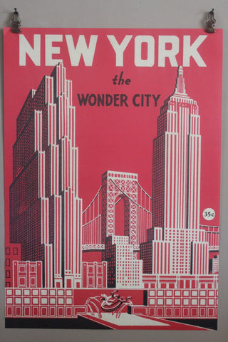 CAVALLINI NEW YORK RED POSTER WRAP