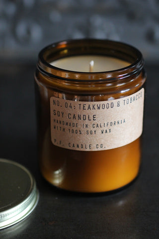 P. F. Candles - NO. 04: TEAKWOOD & TOBACCO