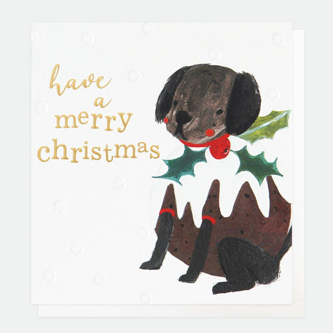 Painted Dog Pudding Charity Christmas Card Pack of 8