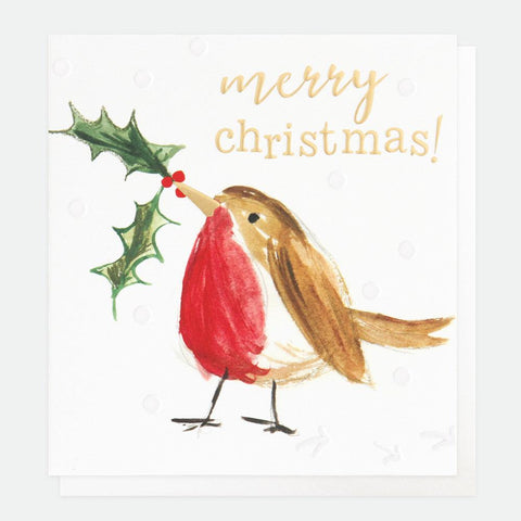 Painted Robin Charity Christmas Card Pack of 8