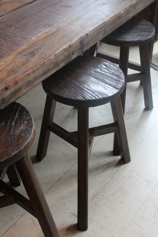 RECYCLED WOOD STOOLS