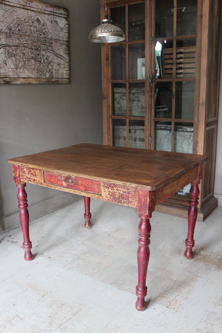 RED PATINA TABLE
