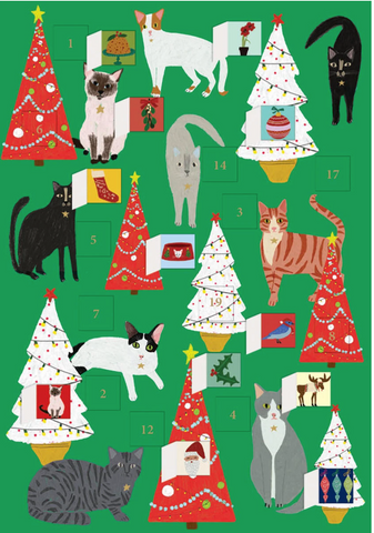 Cat Palais Advent Calendar Card