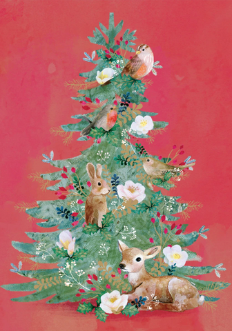 Christmas Tree Card Pack 5