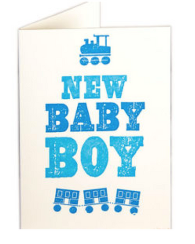 Archivist New Baby Boy Card