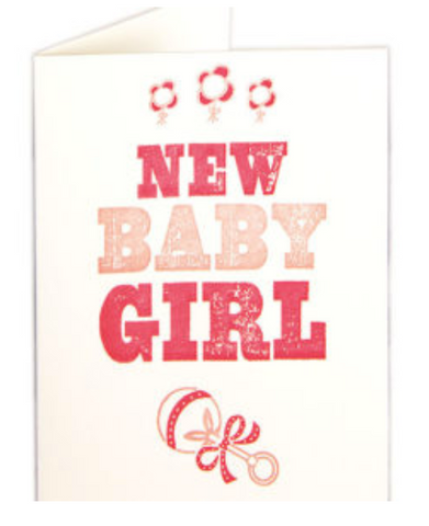 Archivist New Baby Girl Card
