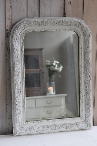 WHITE LOUIS PHILIPPE MIRROR SMALL