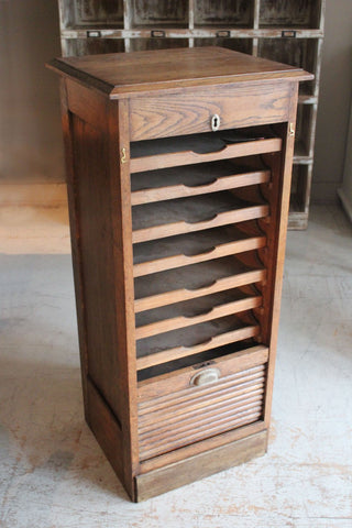 Tambour Fronted Filing Cabinet