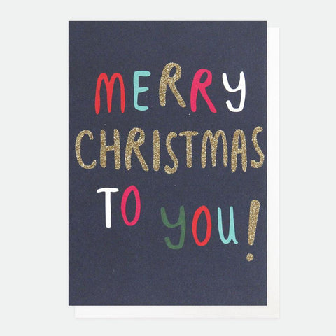 Text Merry Christmas Card Pack of 10