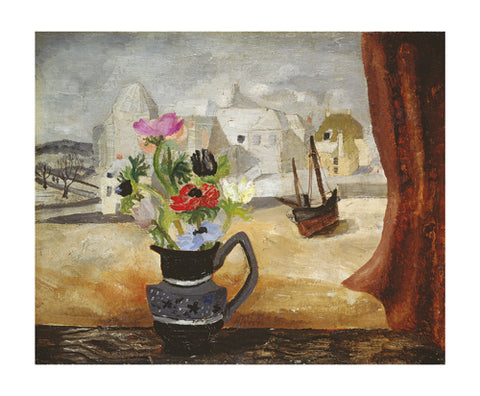 Art Angels Card - Anemones in a Cornish Window