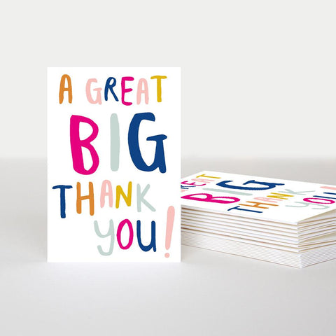A Great Big Thank You Notecards Pack of 10