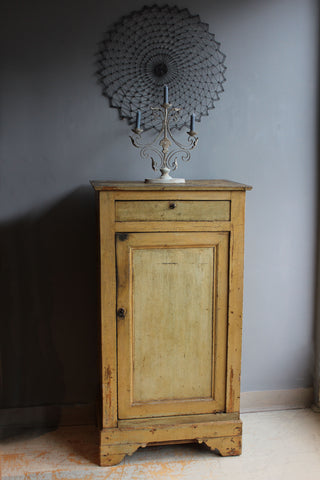 Antique French Painted Pine Cupboard