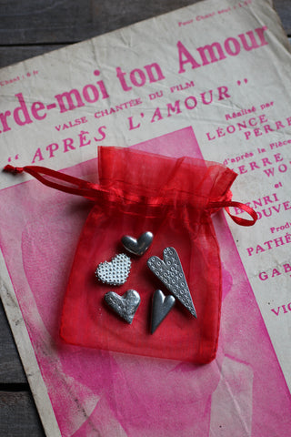 Pewter Love Heart Tokens