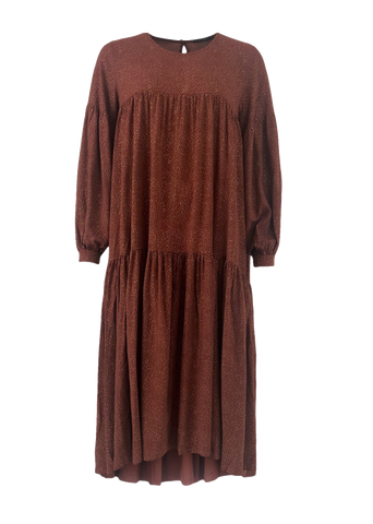 Lexi Dress Mocha/ Gold