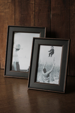 Distressed Black Photo Frames