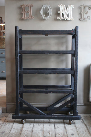 Black Industrial Shoe Trolley