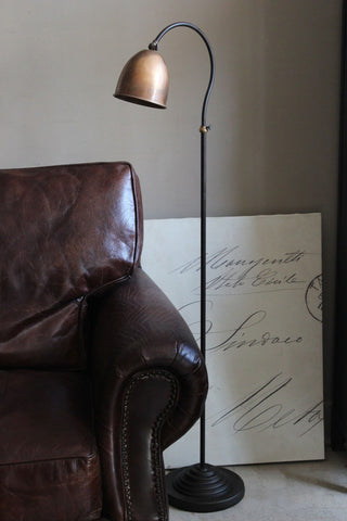 Copper and Brass Floor Lamp