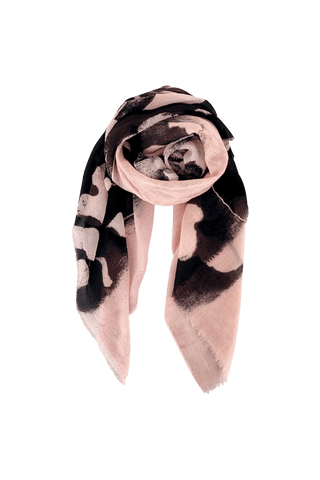 GOLD/DEE silk/wool scarf rose