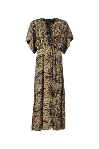 LUNA waistline kaftan dress -Exotic Leo